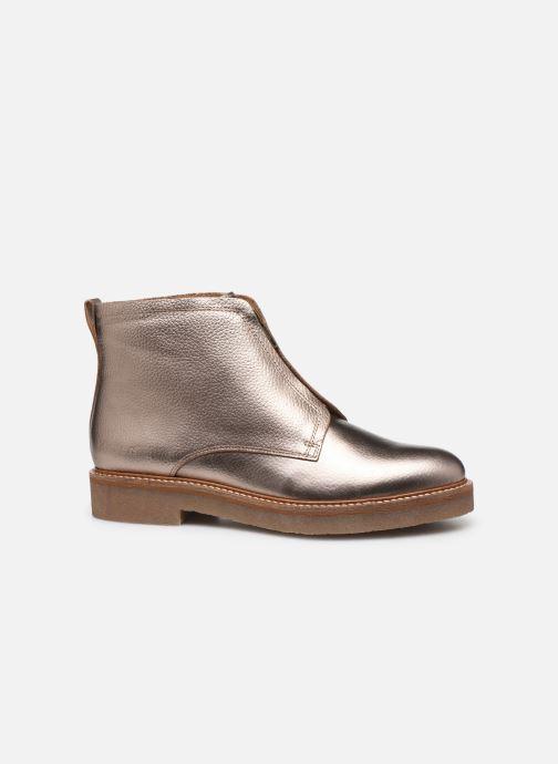 Bottines et boots Kickers OXFORDOZIP Or et bronze vue derrière