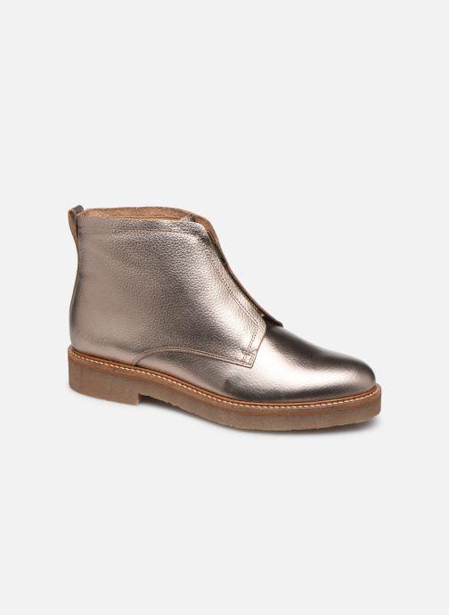 Bottines et boots Kickers OXFORDOZIP Or et bronze vue détail/paire