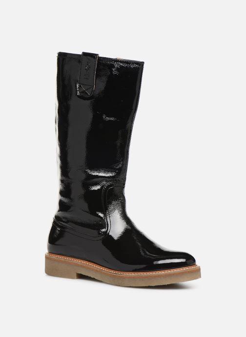 Støvler & gummistøvler Kickers OXFORDALIER Sort detaljeret billede af skoene