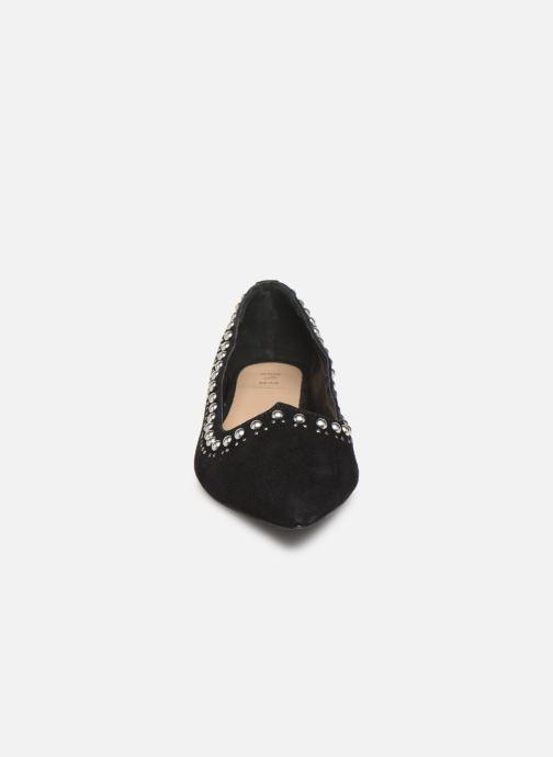 Ballerines Shoe the bear ZOLA ROUND STUDS Noir vue portées chaussures