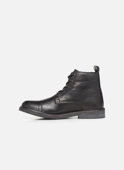 Boots en enkellaarsjes Levi's TRACK 3 Zwart voorkant