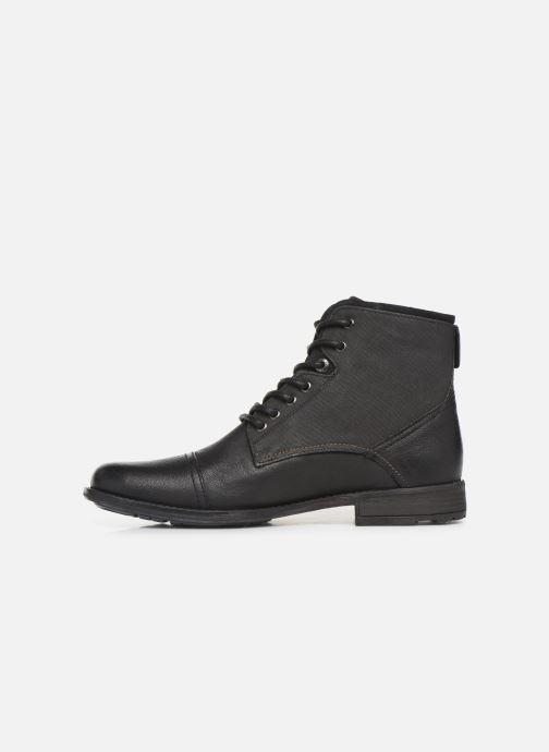 Boots en enkellaarsjes Levi's FOWLER 2 Zwart voorkant