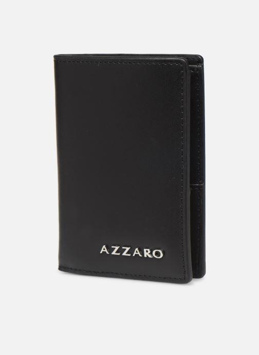 Marroquinería pequeña Azzaro LIVE PORTEFEUILLE JUNIOR Negro vista del modelo