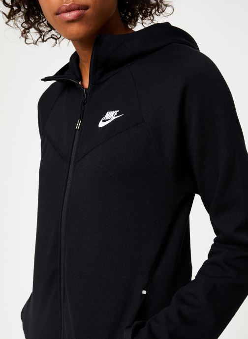 Vêtements Nike Veste Femme Nike Sportswear Tech Fleece Noir vue face