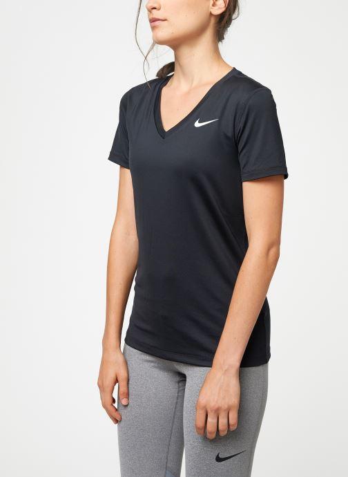 Vêtements Nike Haut Manches Courtes Femme Nike Victory Noir vue droite