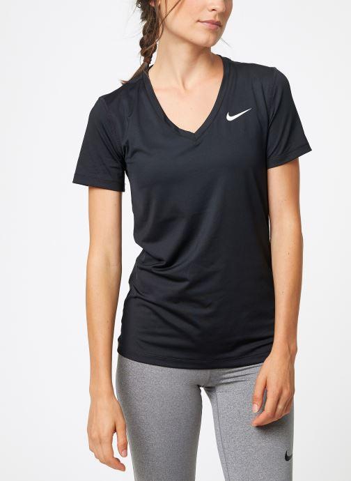 Vêtements Nike Haut Manches Courtes Femme Nike Victory Noir vue détail/paire