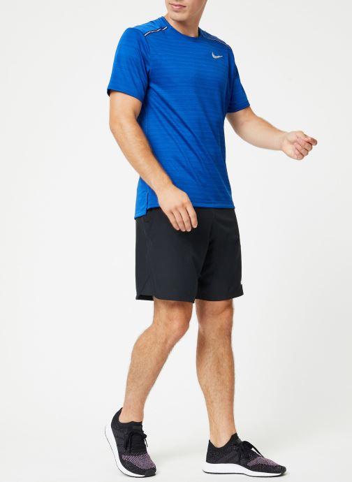 Vêtements Nike Haut de running Homme Nike Dry Miler manches courtes Bleu vue bas / vue portée sac
