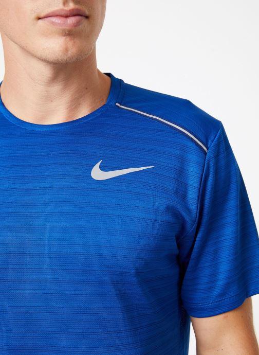 Vêtements Nike Haut de running Homme Nike Dry Miler manches courtes Bleu vue face