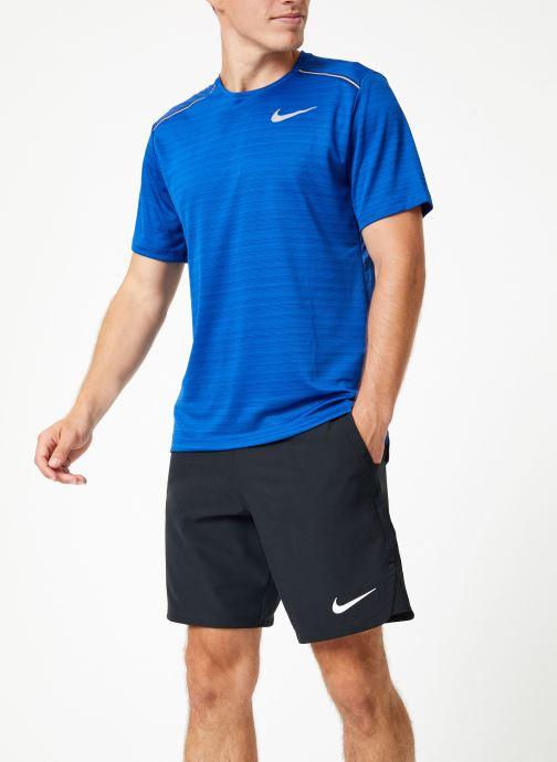 Vêtements Nike Haut de running Homme Nike Dry Miler manches courtes Bleu vue droite