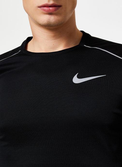 Vêtements Nike Haut de running Homme Nike Dry Miler manches longues Noir vue face
