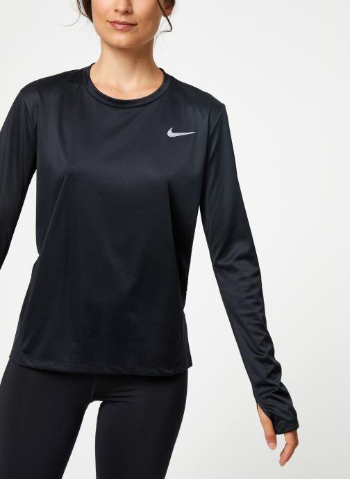 Vêtements Nike Haut de running Femme Nike Dry Miler manches longues Noir vue détail/paire