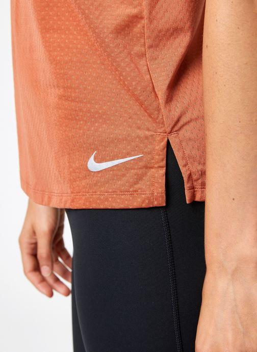 Kleding Nike Débardeur de running Femme Nike Dry Miler Roze voorkant