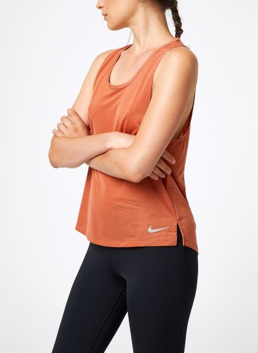 Kleding Nike Débardeur de running Femme Nike Dry Miler Roze detail