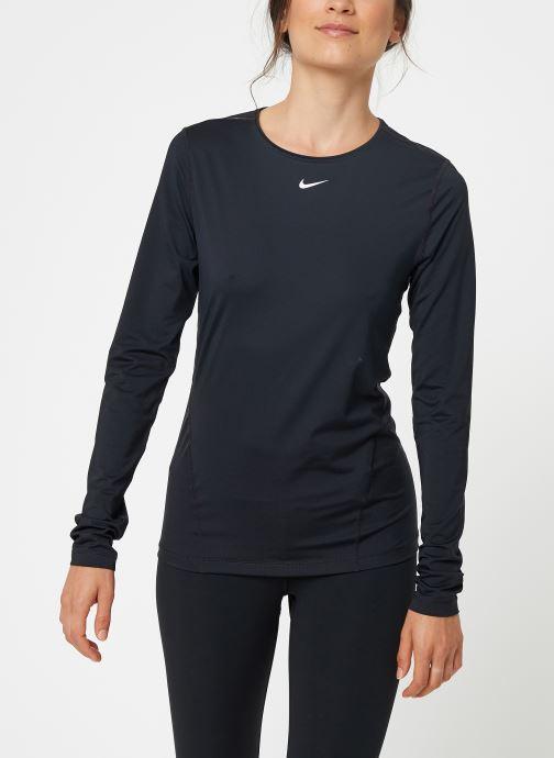 Vêtements Nike Haut de training femme Nike Pro mesh manches longues Noir vue droite
