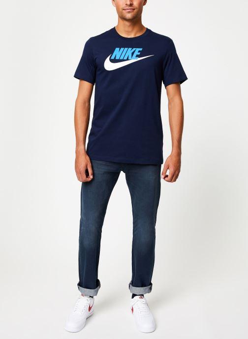 tee shirt nike bleu homme