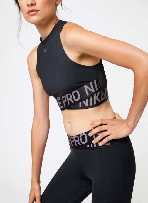 Vêtements Nike Débardeur de training Femme Nike Pro Intertwist Noir vue détail/paire