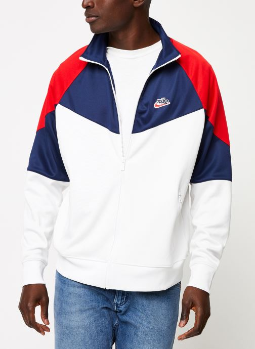 Vêtements Nike Veste Homme Nike Sportswear heritage Blanc vue droite