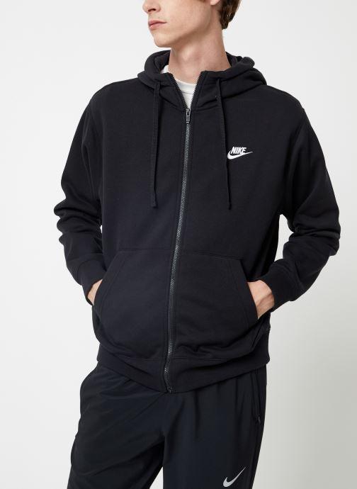 Tøj Nike Veste zippée Homme Nike Sportswear Club Sort detaljeret billede af skoene