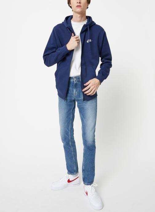 Vêtements Nike Veste zippée Homme Nike Sportswear Club Bleu vue bas / vue portée sac