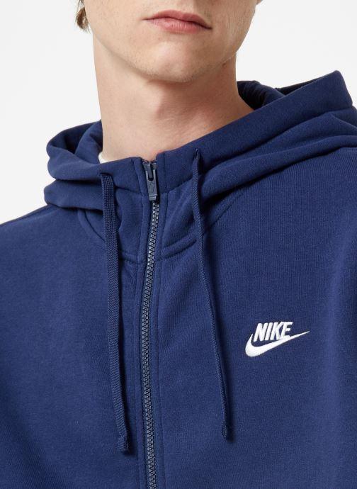 Vêtements Nike Veste zippée Homme Nike Sportswear Club Bleu vue face