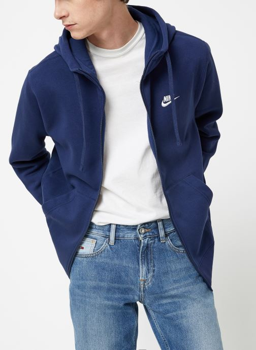 Vêtements Nike Veste zippée Homme Nike Sportswear Club Bleu vue droite