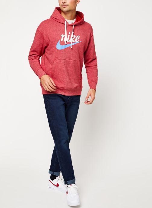 Vêtements Nike Sweat Capuche Homme Nike Sportswear Heritage Bordeaux vue bas / vue portée sac
