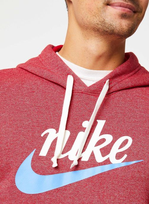 Vêtements Nike Sweat Capuche Homme Nike Sportswear Heritage Bordeaux vue face