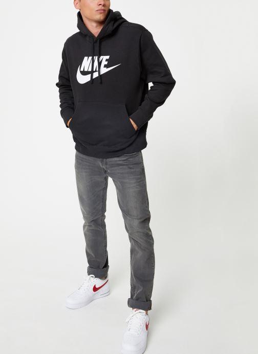 Vêtements Nike Sweat à capuche à motif pour Homme Sportswear Club Noir vue bas / vue portée sac