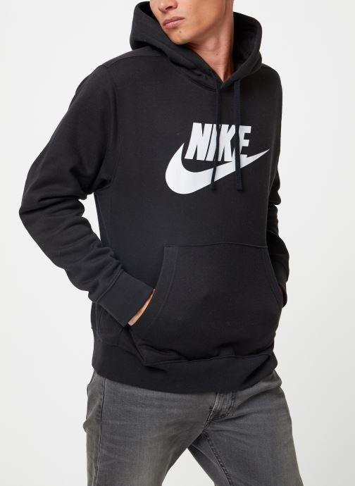Vêtements Nike Sweat à capuche à motif pour Homme Sportswear Club Noir vue droite