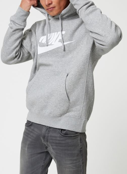 Vêtements Nike Sweat à capuche à motif pour Homme Sportswear Club Gris vue droite