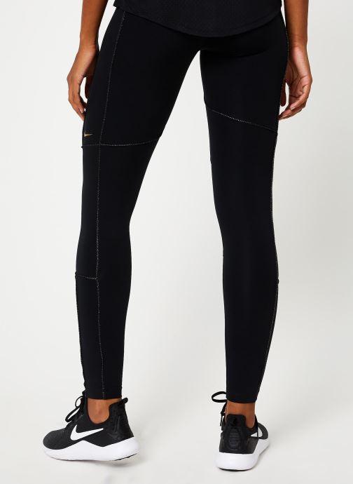 Vêtements Nike Collant de Training femme 7/8 Nike Pro Fierce Noir vue portées chaussures