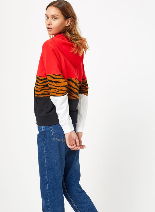 Vêtements Nike Sweat à capuche Femme Nike Sportswear Essential Imprimé Multicolore vue droite