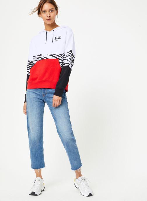 Vêtements Nike Sweat à capuche Femme Nike Sportswear Essential Imprimé Multicolore vue bas / vue portée sac