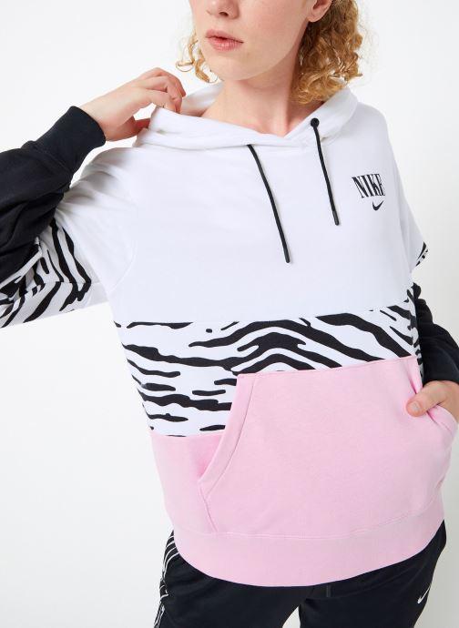 Vêtements Nike Sweat à capuche Femme Nike Sportswear Essential Imprimé Rose vue droite