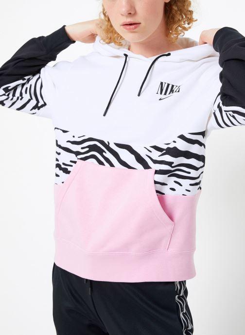 Vêtements Nike Sweat à capuche Femme Nike Sportswear Essential Imprimé Rose vue détail/paire