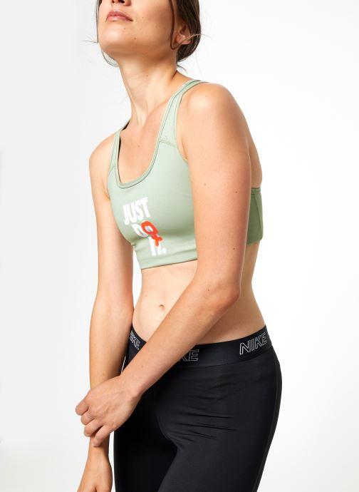 Vêtements Nike Brassière de Training Femme Nike Rebel Swoosh Vert vue détail/paire