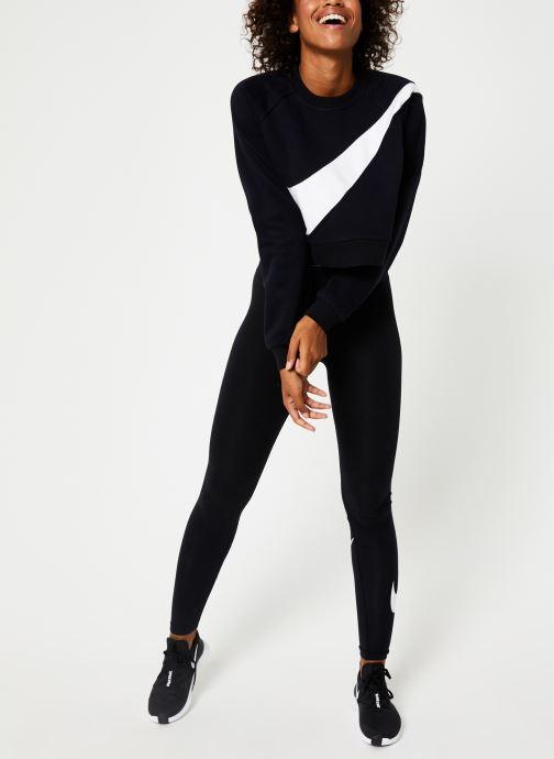 Vêtements Nike Sweat Court femme Nike Sportswear Big Swoosh Noir vue bas / vue portée sac