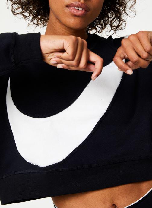 Vêtements Nike Sweat Court femme Nike Sportswear Big Swoosh Noir vue face