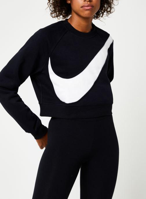 Vêtements Nike Sweat Court femme Nike Sportswear Big Swoosh Noir vue détail/paire