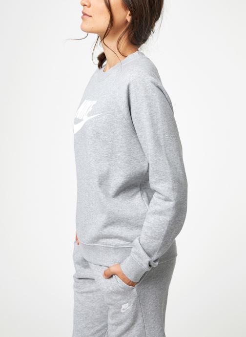 Vêtements Nike Sweat Femme Nike Sportswear Essential Gris vue droite