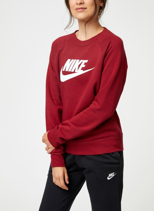 Kleding Nike Sweat Femme Nike Sportswear Essential Bordeaux detail