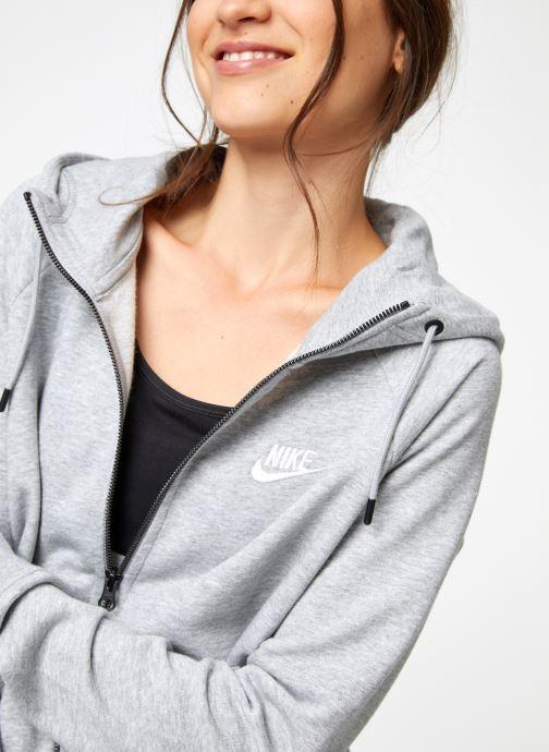 Vêtements Nike Veste Fleece Femme Nike Sporstwear Essential Gris vue face