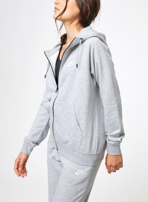 Vêtements Nike Veste Fleece Femme Nike Sporstwear Essential Gris vue droite
