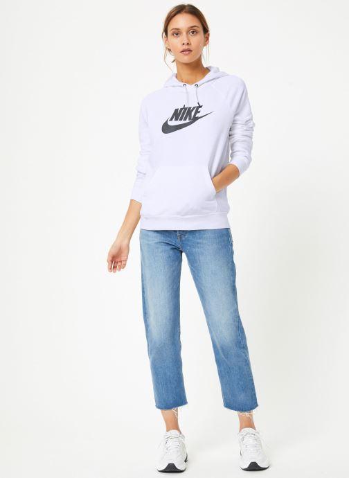Vêtements Nike Sweat à capuche Femme Nike Sportswear Essential Blanc vue bas / vue portée sac