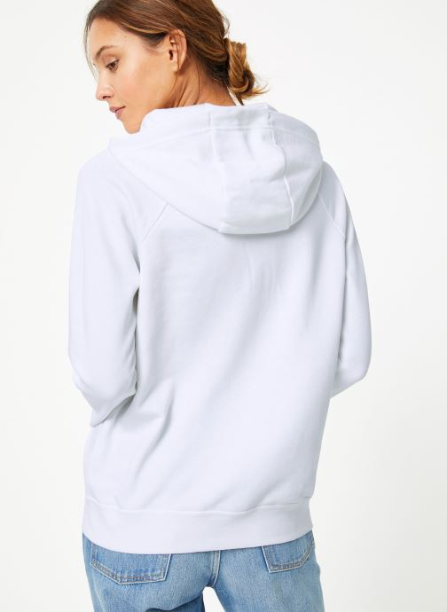 Vêtements Nike Sweat à capuche Femme Nike Sportswear Essential Blanc vue portées chaussures