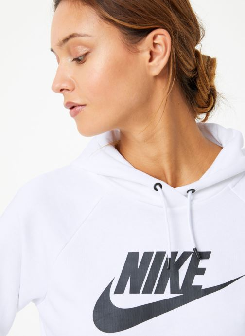 Vêtements Nike Sweat à capuche Femme Nike Sportswear Essential Blanc vue face