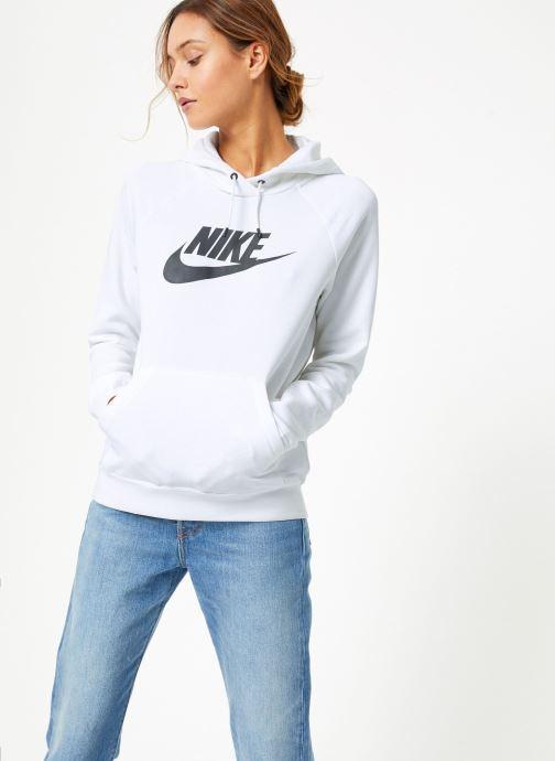 Vêtements Nike Sweat à capuche Femme Nike Sportswear Essential Blanc vue droite