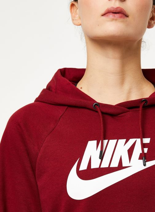 Vêtements Nike Sweat à capuche Femme Nike Sportswear Essential Bordeaux vue face