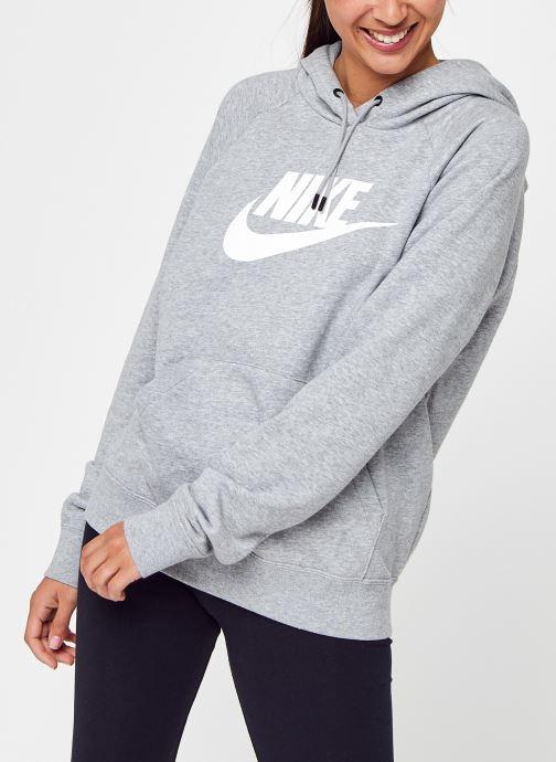 Vêtements Nike Sweat à capuche Femme Nike Sportswear Essential Gris vue détail/paire