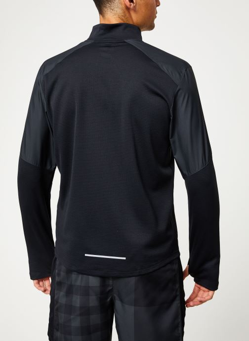 Vêtements Nike Haut de Running Homme 1/2 zip Nike Pacer Noir vue portées chaussures